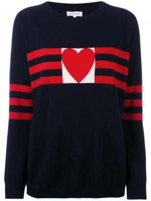 Кашемировый свитер с сердцем Chinti & Parker. Цвет: синий