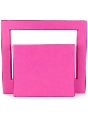 Клатч Bauhaus Lamat. Цвет: розовый и фиолетовый