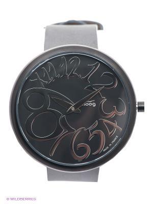 Часы MOOG. Цвет: серый