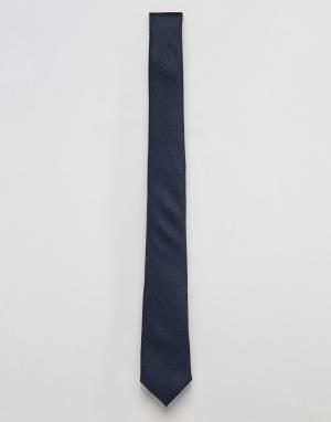 ASOS Темно-синий фактурный галстук. Цвет: темно-синий