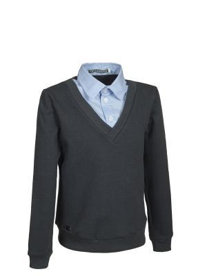Пуловер Nota Bene. Цвет: темно-серый