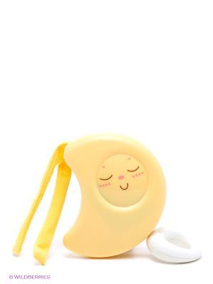 Игрушка подвеска для кроватки музык. Луна CHICCO. Цвет: желтый