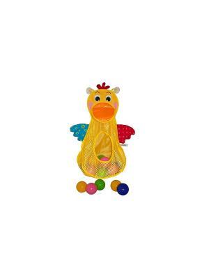 Голодный пеликан с мячиками K'S Kids. Цвет: желтый