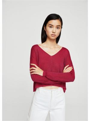 Пуловер Mango. Цвет: фуксия