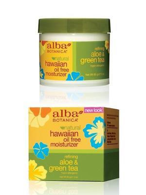Гавайский увлажняющий крем  Алое&Зеленый чай, 85 гр Alba Botanica. Цвет: белый