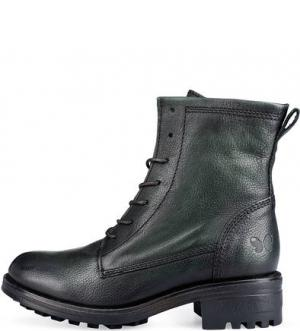 Зеленые кожаные ботинки Felmini. Цвет: зеленый
