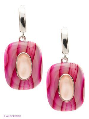 Серьги BALEX. Цвет: розовый, серебристый