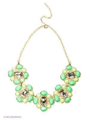 Колье Lovely Jewelry. Цвет: зеленый, золотистый