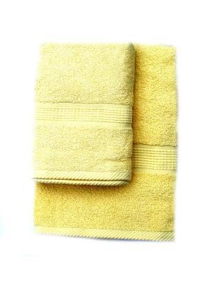 Комплект полотенец Макси 2 предмета 50х100, 70х140 La Pastel. Цвет: желтый