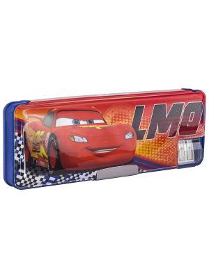 Пенал. Disney Cars. Цвет: синий, желтый, красный