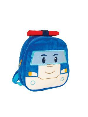 Плюшевый рюкзак Поли Gulliver. Цвет: белый, синий