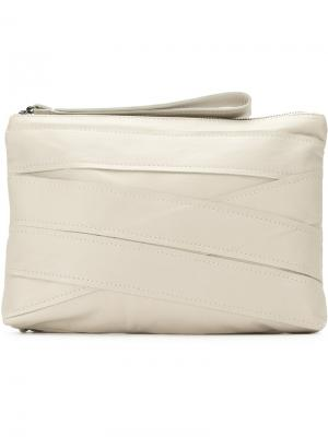 Panelled clutch bag Mara Mac. Цвет: белый