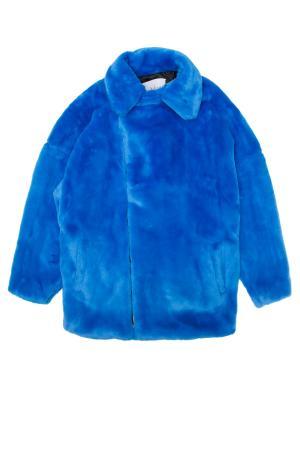 Пальто KYE. Цвет: синий