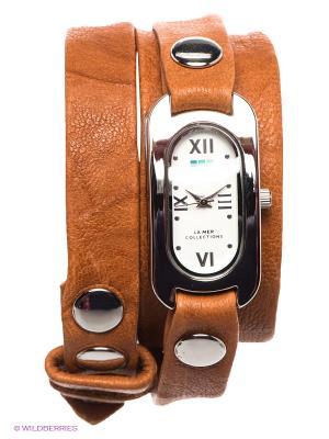 Часы La Mer Collections. Цвет: светло-коричневый, серебристый