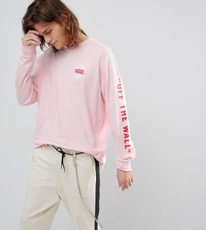 Vans Розовый оверсайз-лонгслив эксклюзивно для ASOS. Цвет: розовый