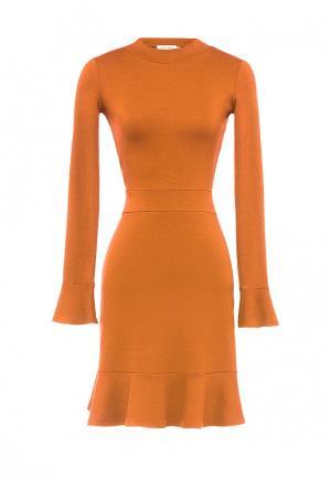 Платье Soeasy. Цвет: оранжевый