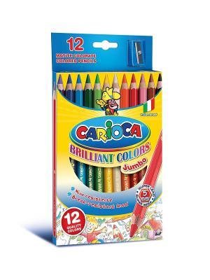 Набор карандашей цветных CARIOCA JUMBO, 12 цв Universal. Цвет: синий