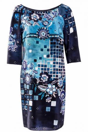 Платье Alberta Ferretti. Цвет: синий