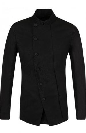 Однобортный хлопковый пиджак Masnada. Цвет: черный
