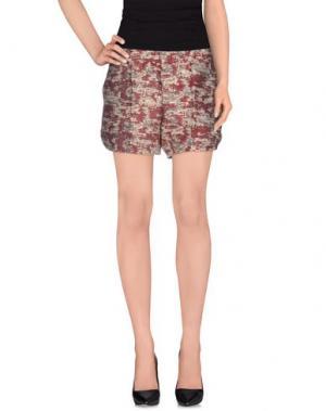 Повседневные шорты JIJIL. Цвет: красно-коричневый
