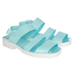 Сандалии женские  Two Tone Glitter Colours Baby Blue JuJu. Цвет: белый,голубой