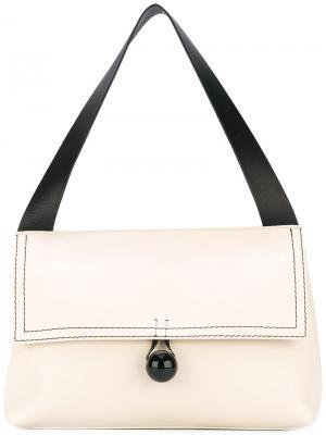 Двухцветная сумка на плечо Corto Moltedo. Цвет: телесный