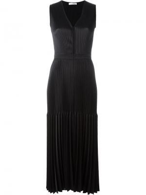 Плиссированное платье Barbara Casasola. Цвет: чёрный