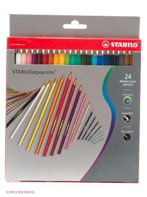 Набор цветных карандашей, 24 цв. Stabilo. Цвет: серый