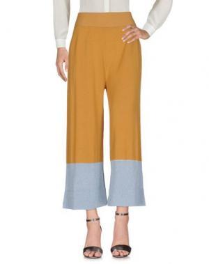 Повседневные брюки .TESSA. Цвет: охра