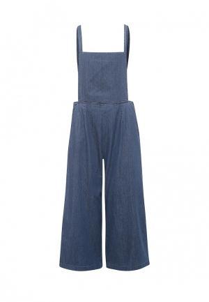 Комбинезон джинсовый Ichi. Цвет: синий