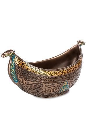 Чаша с орнаментом Арабеска Veronese. Цвет: бронзовый