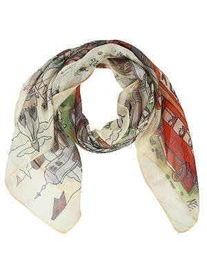 Арт-платок I love London Оланж Ассорти. Цвет: бежевый