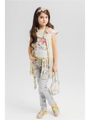 Комплект для девочек Baby Steen. Цвет: голубой,бежевый