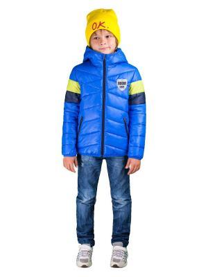 Куртка BOOM. Цвет: темно-синий, лазурный, салатовый