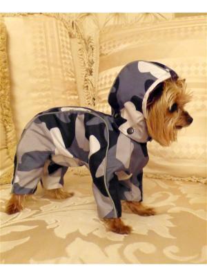 Дождевик для собак (унисекс) LUCKY DOG. Цвет: серый, темно-серый