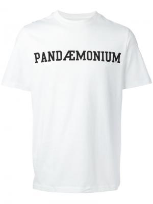 Футболка Pandemonium Oamc. Цвет: белый