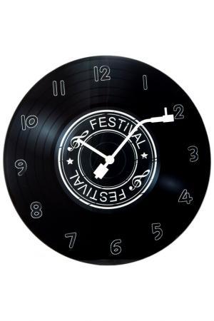 Часы Время музыки настенные Русские подарки. Цвет: черный, белый