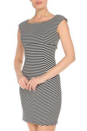 Приталенное платье в полоску GF FERRE. Цвет: черный
