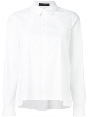 Рубашка с плиссировкой спереди Steffen Schraut. Цвет: белый