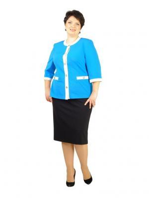 Жакет LUDMILA. Цвет: голубой