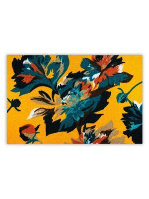 Коврик Ботаника желтый Empire. Цвет: серо-голубой, желтый, оранжевый