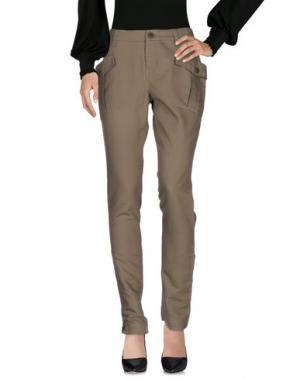 Повседневные брюки BOSS ORANGE. Цвет: зеленый-милитари