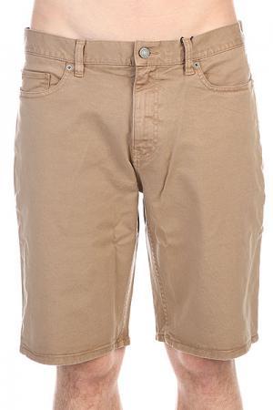 Шорты джинсовые DC Wrk Str Col S Khaki Shoes. Цвет: бежевый