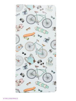 Обложка для путешествия Bikes Kawaii Factory. Цвет: голубой