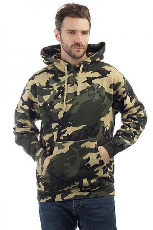 Толстовка кенгуру  Concealed Pullover Hooded Camo Independent. Цвет: черный,зеленый,бежевый