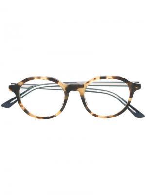 Очки Montaigne 38 Dior Eyewear. Цвет: телесный