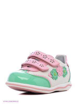 Ботинки KENKA. Цвет: белый, зеленый