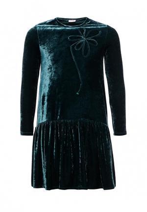 Платье Il Gufo. Цвет: зеленый