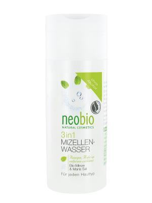 Мицеллярная вода 3 в 1 Neobio. Цвет: светло-желтый