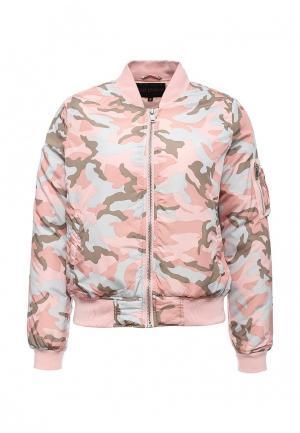 Куртка утепленная QED London. Цвет: розовый